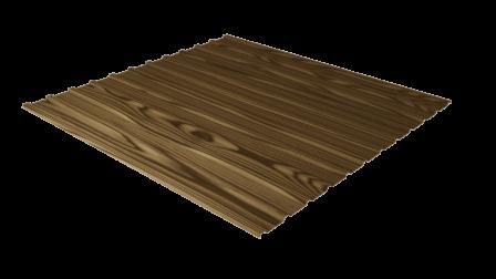 Профнастил С10 дуб 3D декоративное покрытие